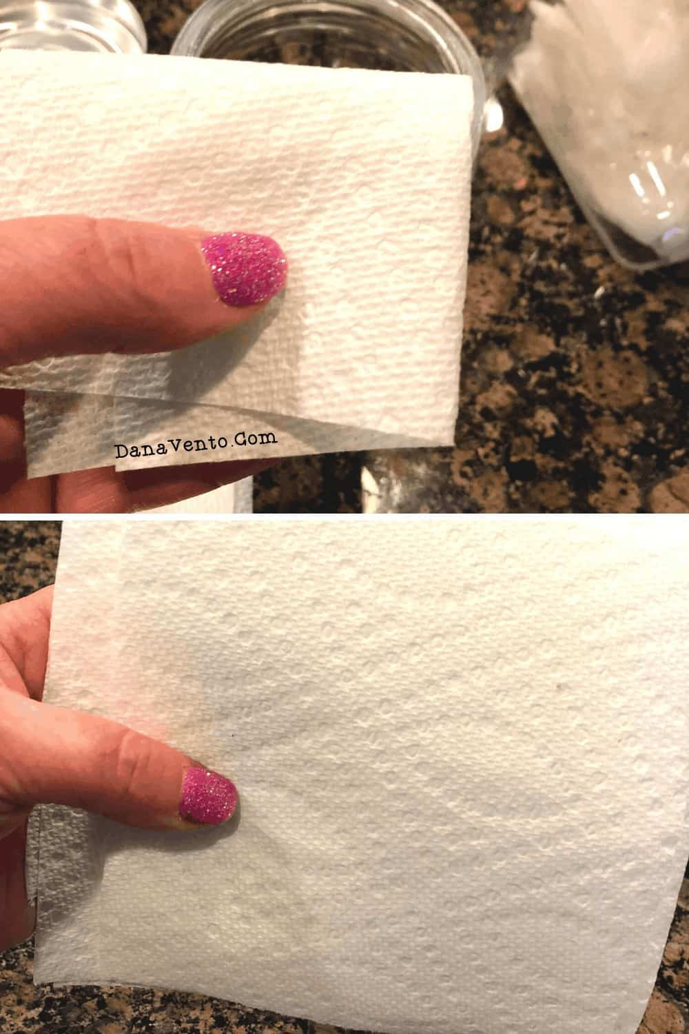 multisurface DIY wipes being folded
