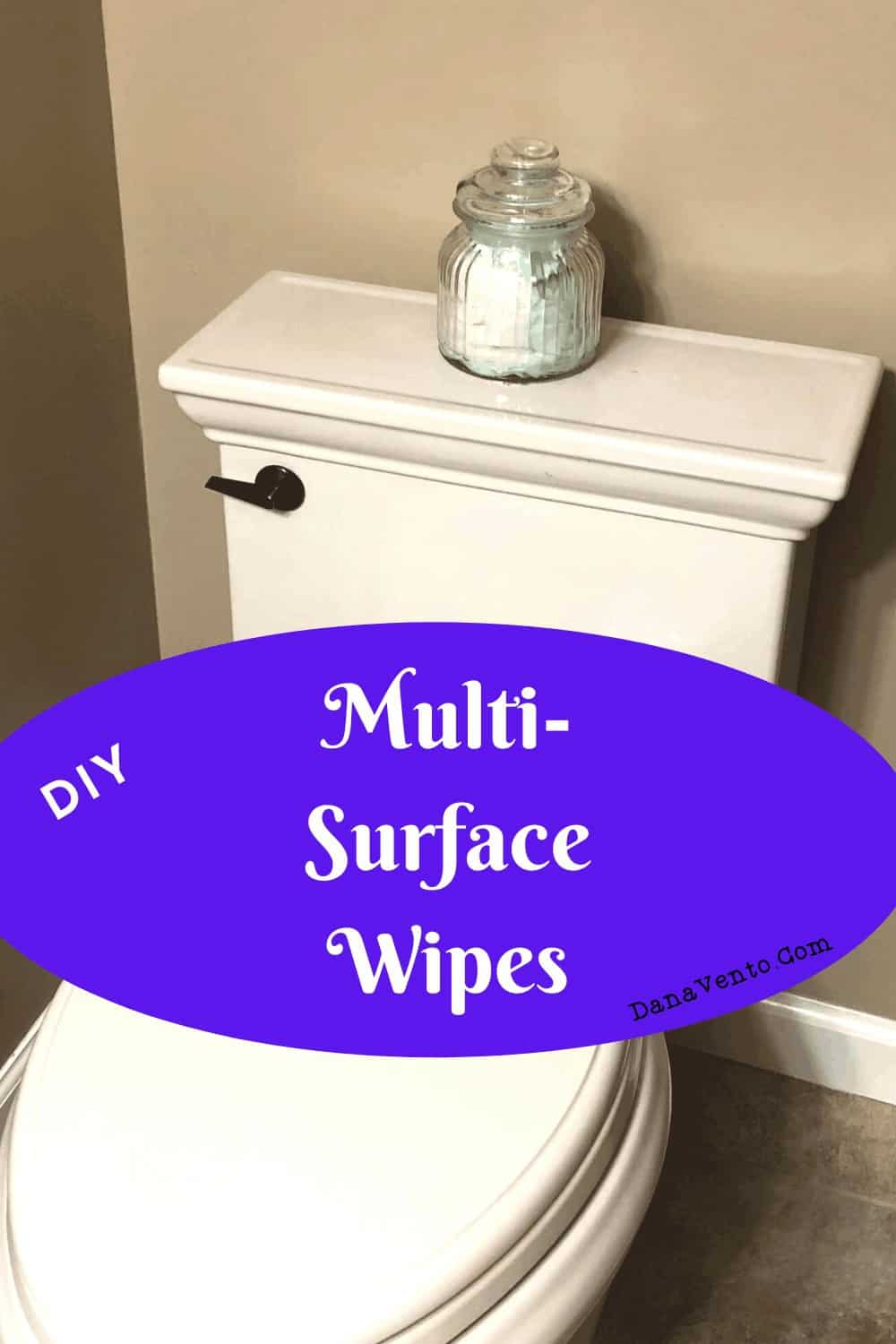 DIY Disinfectant Wipes Multisurface Cleaning, on toilet