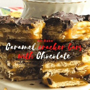 No-Bake Buttery Caramel Cracker Bars With Chocolate
