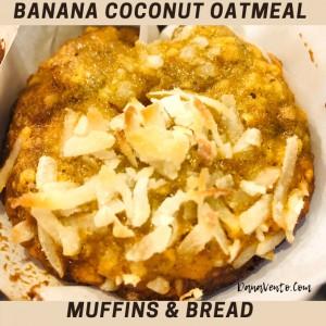 Banana Coconut Oatmeal Bread