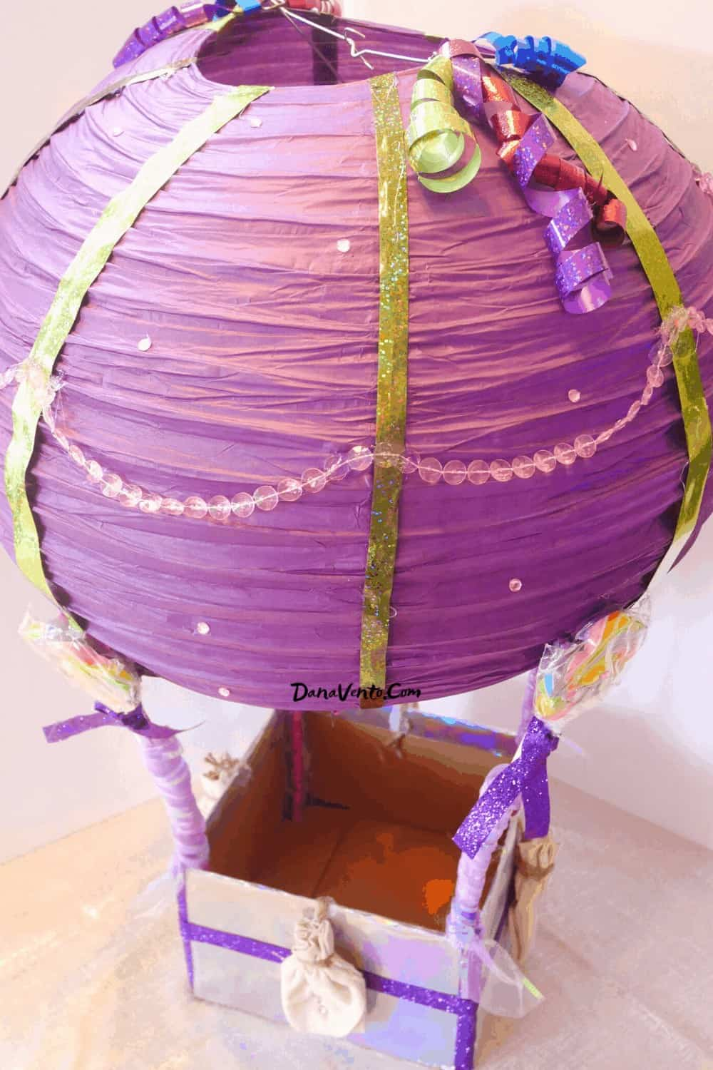 hot air balloon out of paper lantern