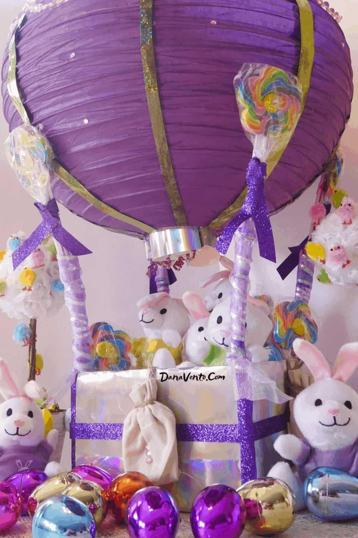 hot air balloon from paper lanterns