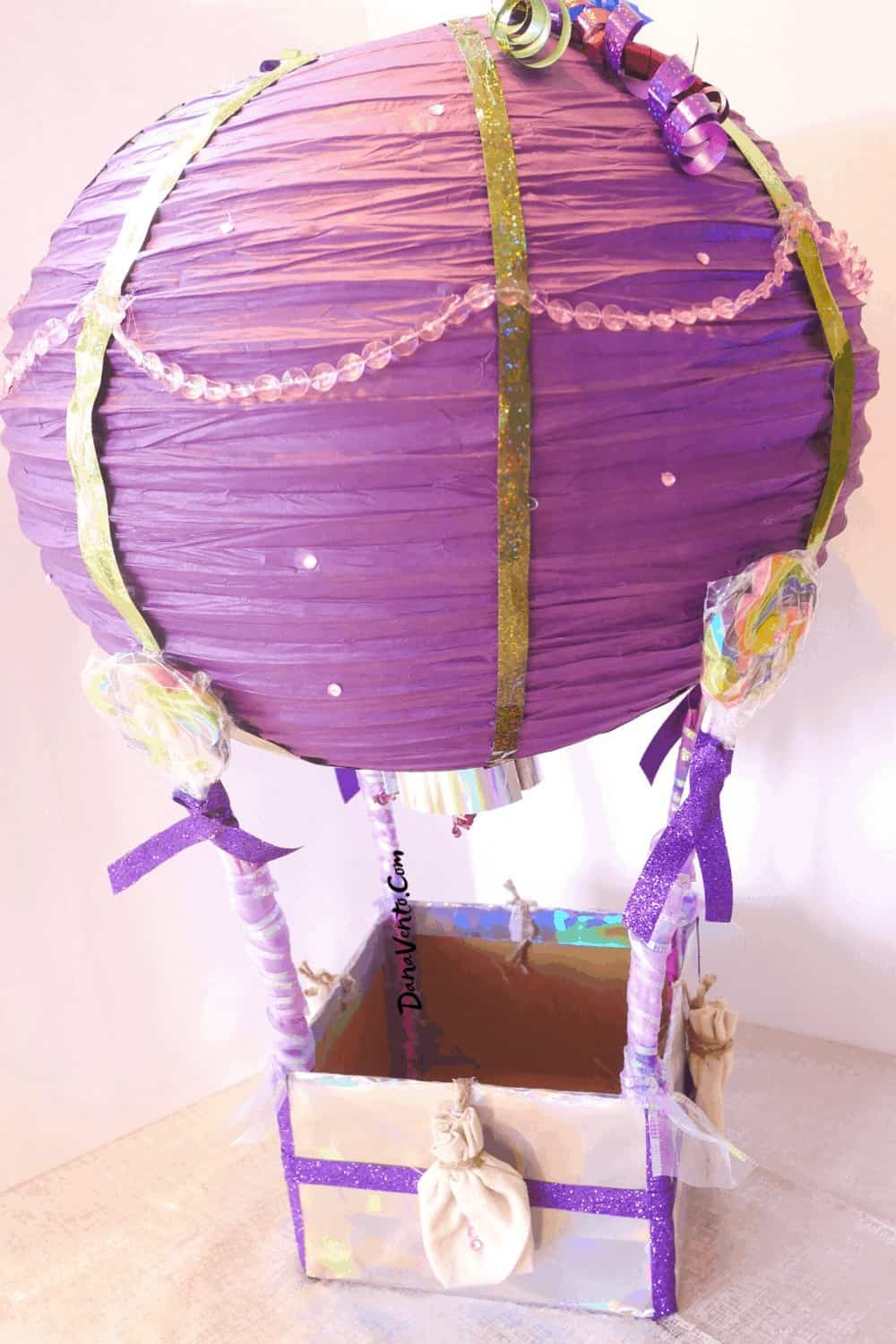 paper lantern out of a hot air balloon