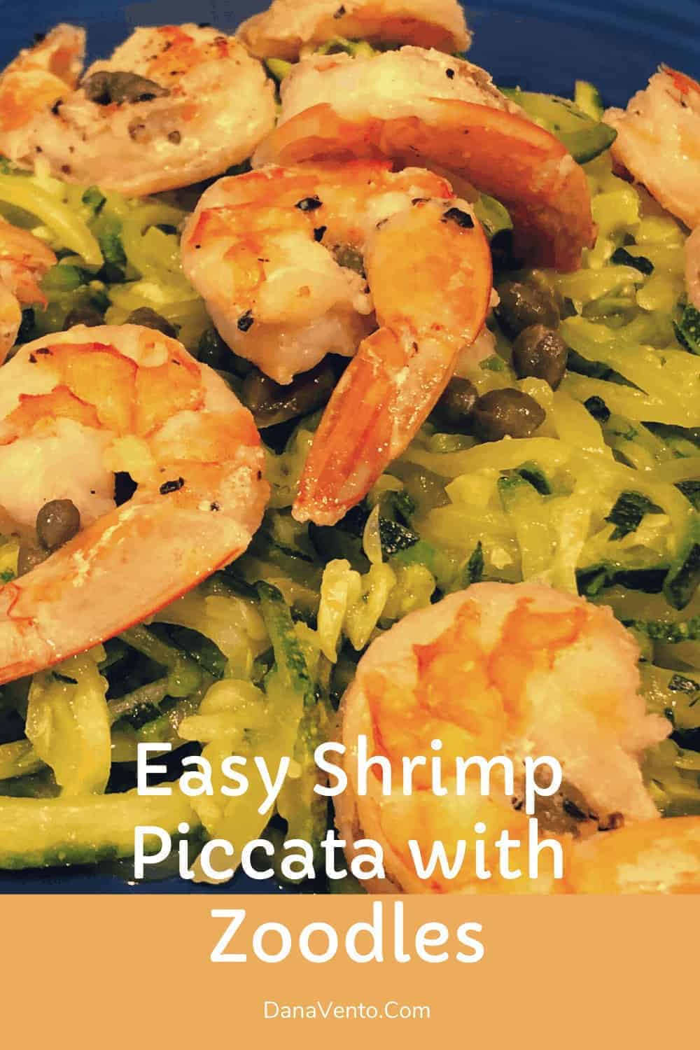 shrimp mixed with zoodles