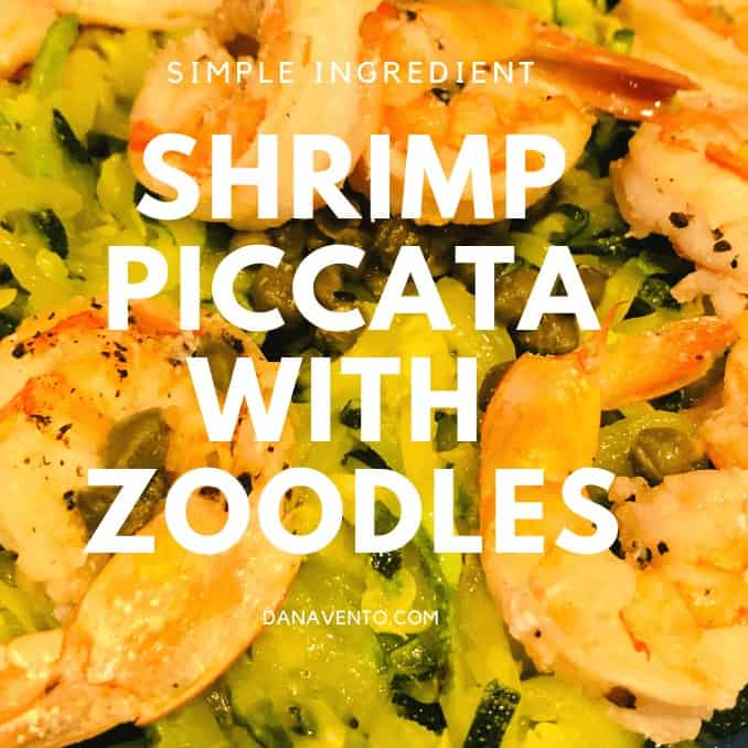 Shrimp Piccata With Zoodles on plate