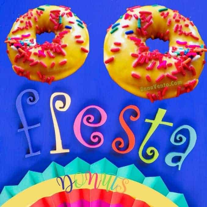 Colorful Yummy Fiesta Donuts. Perfect for Cinco de Mayo!