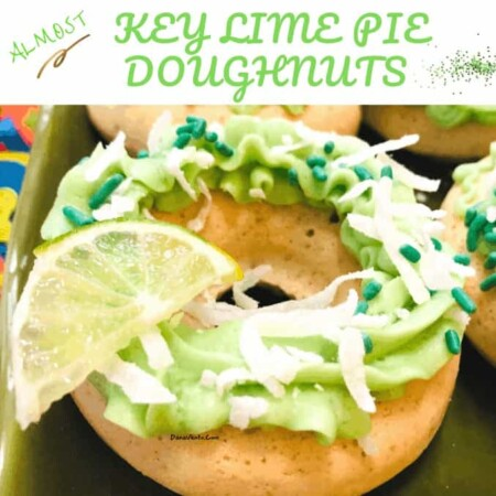 Baked Almost Key Lime Pie Doughnuts