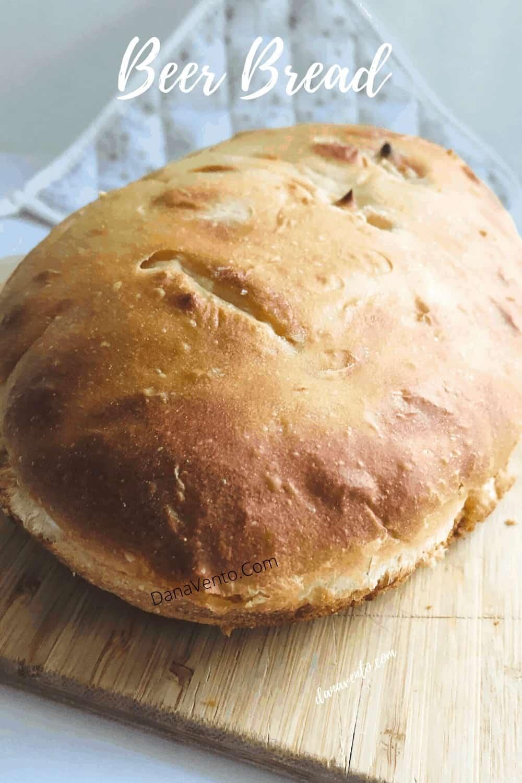 top of beer bread