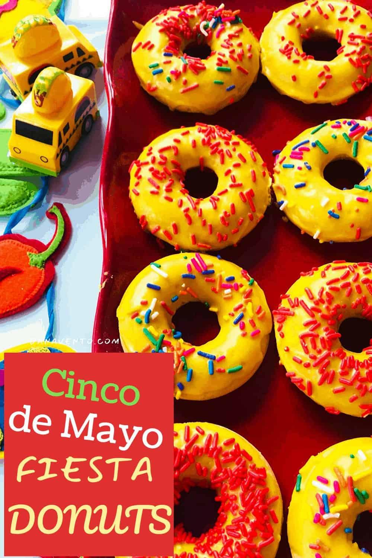 Cinco de Mayo Donuts on tray
