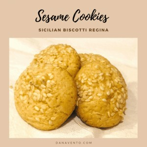 Sicilian Sesame Seed Cookies (Biscotti Regina)