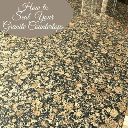 Granite countertop after sealing