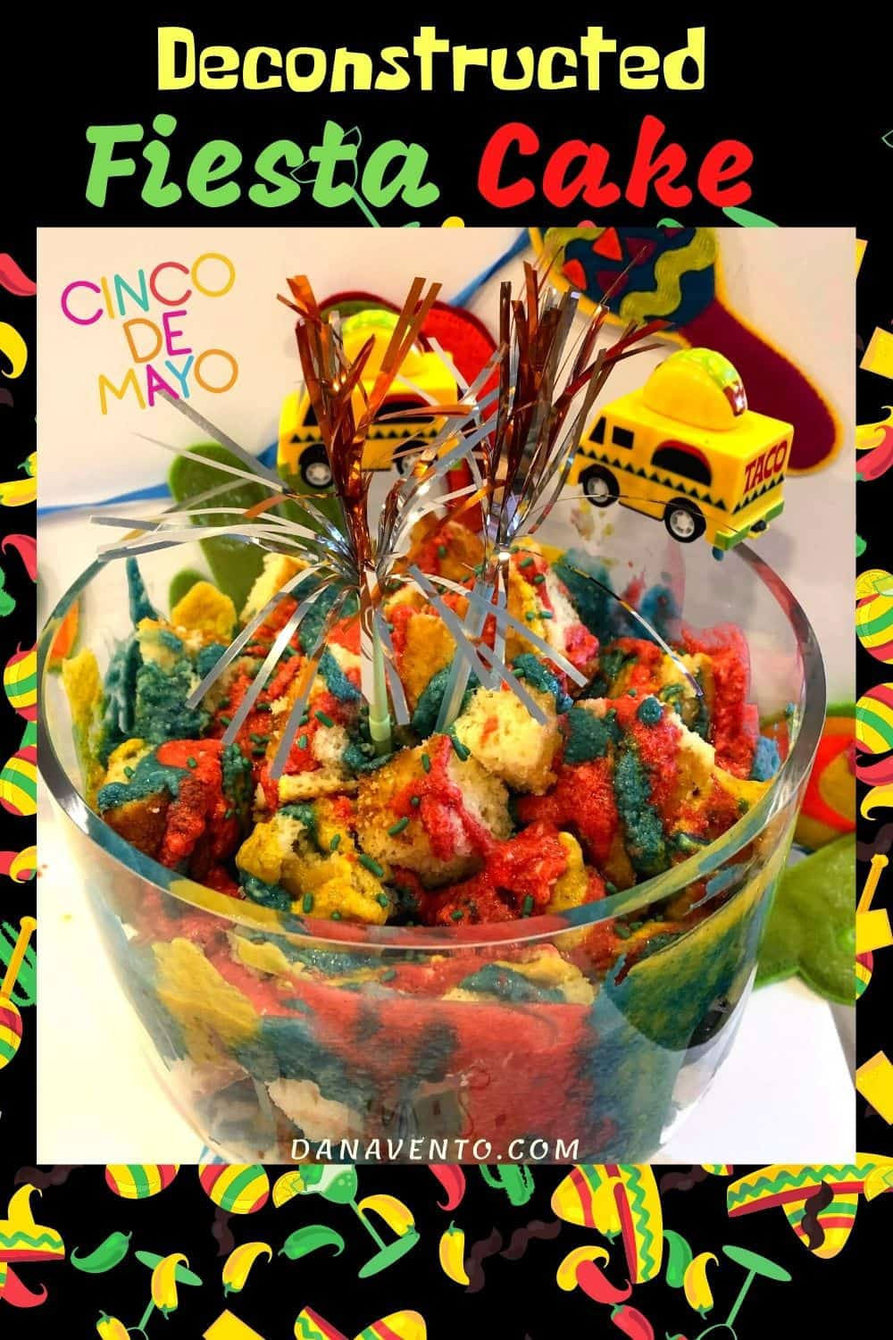 Deconstructed Fiesta Cake for Cinco de Mayo in bowl