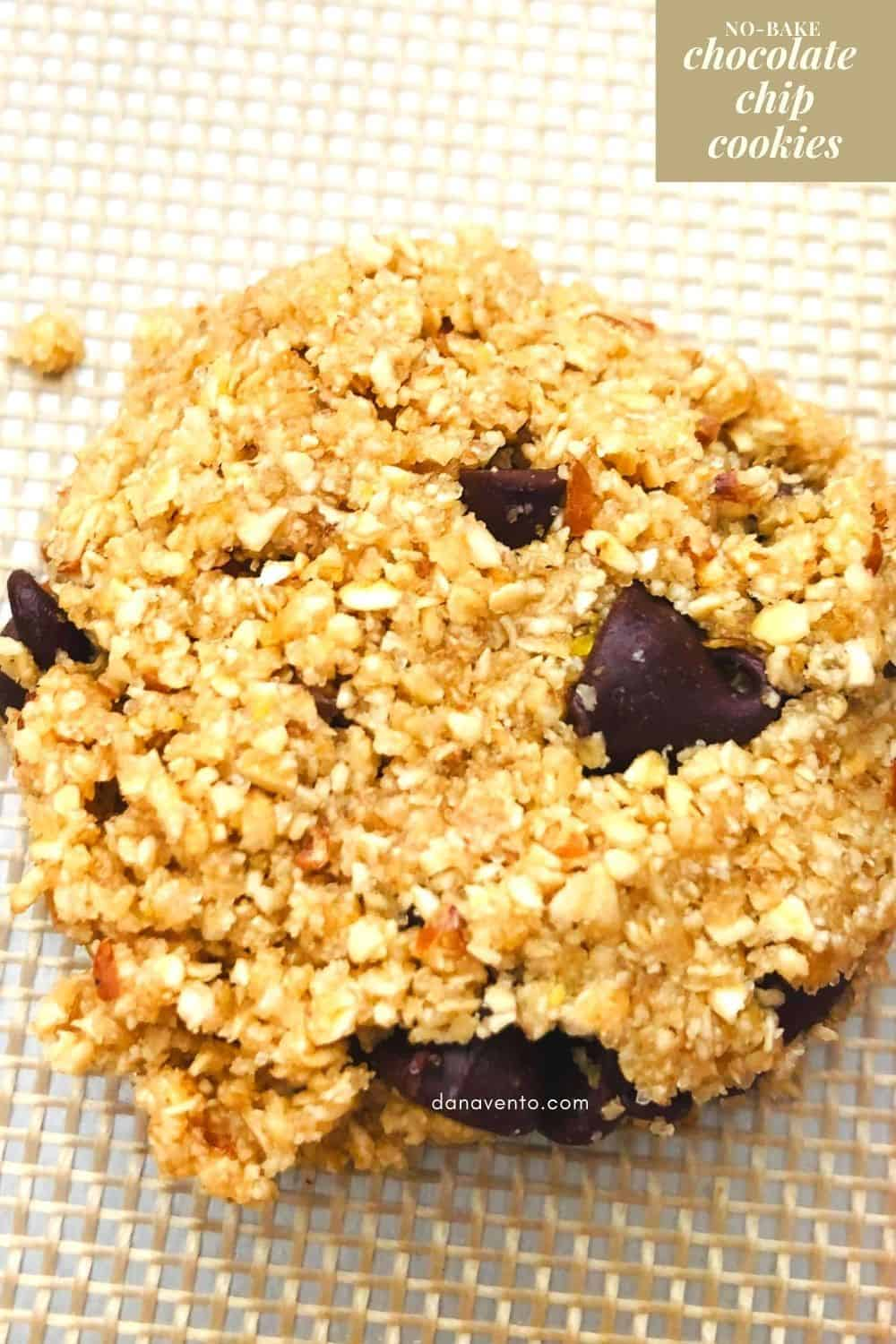 Easy 1 bowl No bake chocolate chip cookie