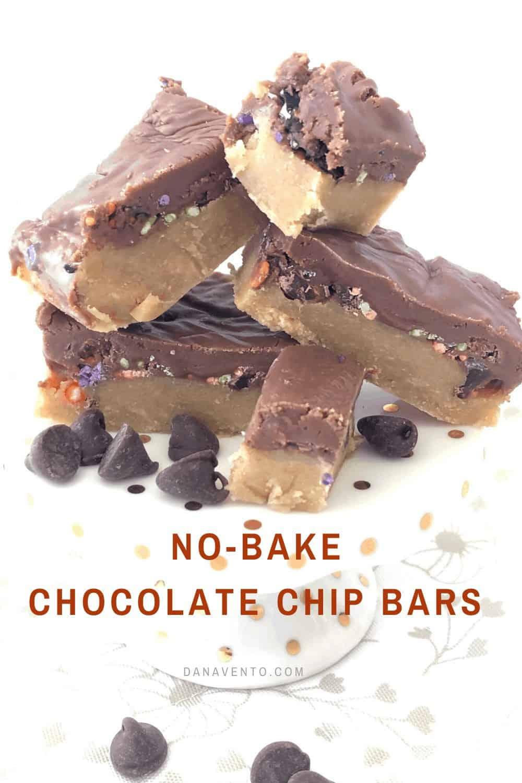 No Bake Chocolate Chip Bars main