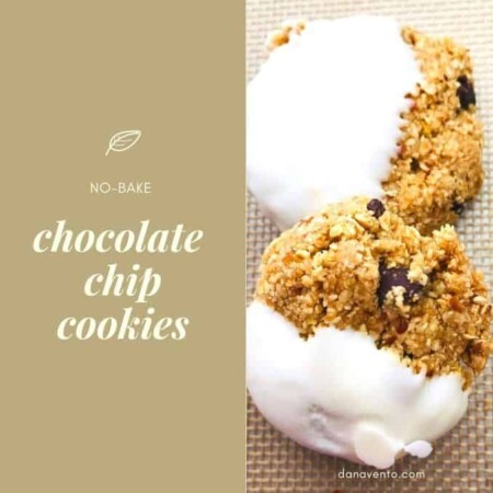 No bake chocolate chip cookies 2 dipped with chocolate