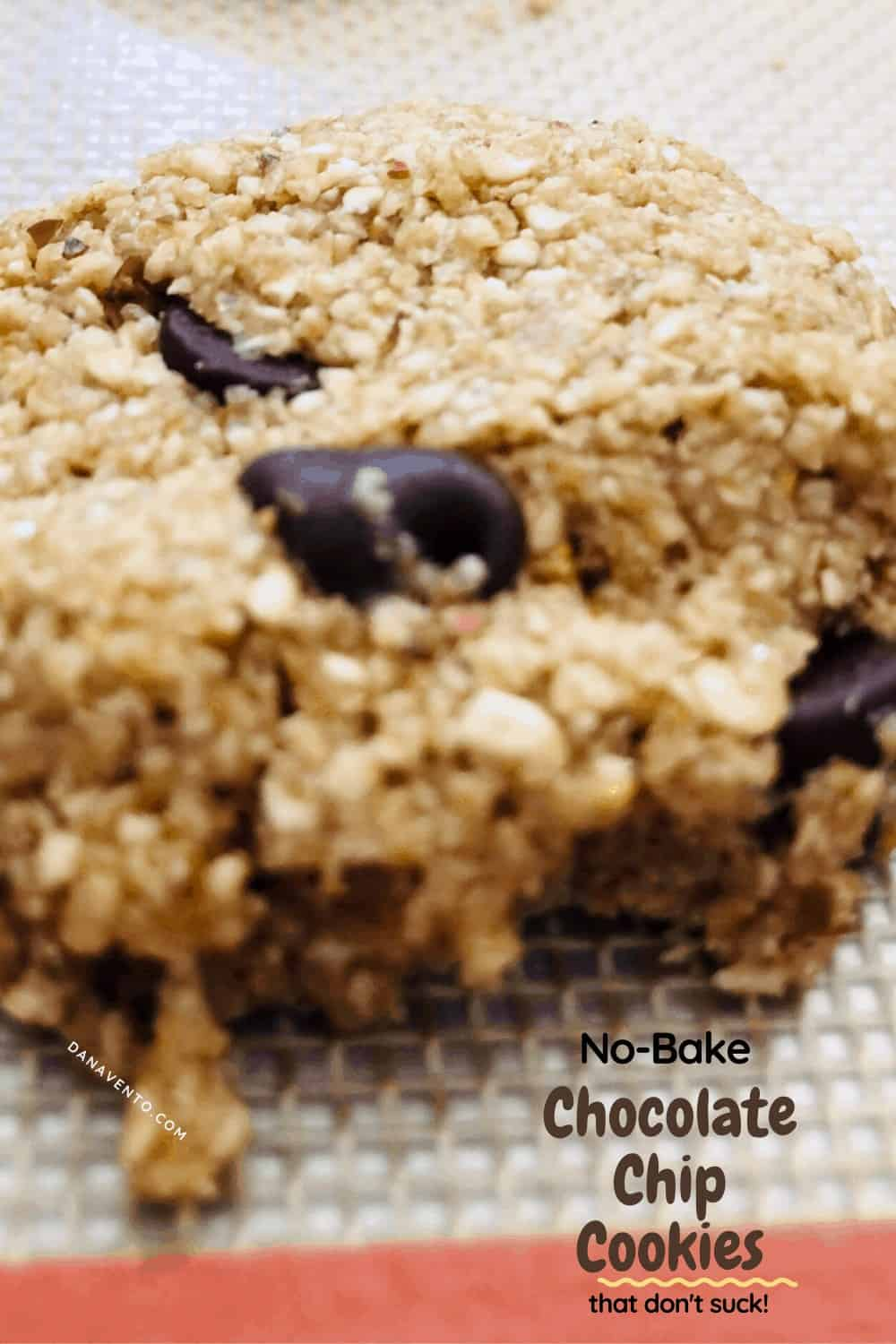 upclose chip for formation of no-bake cookie