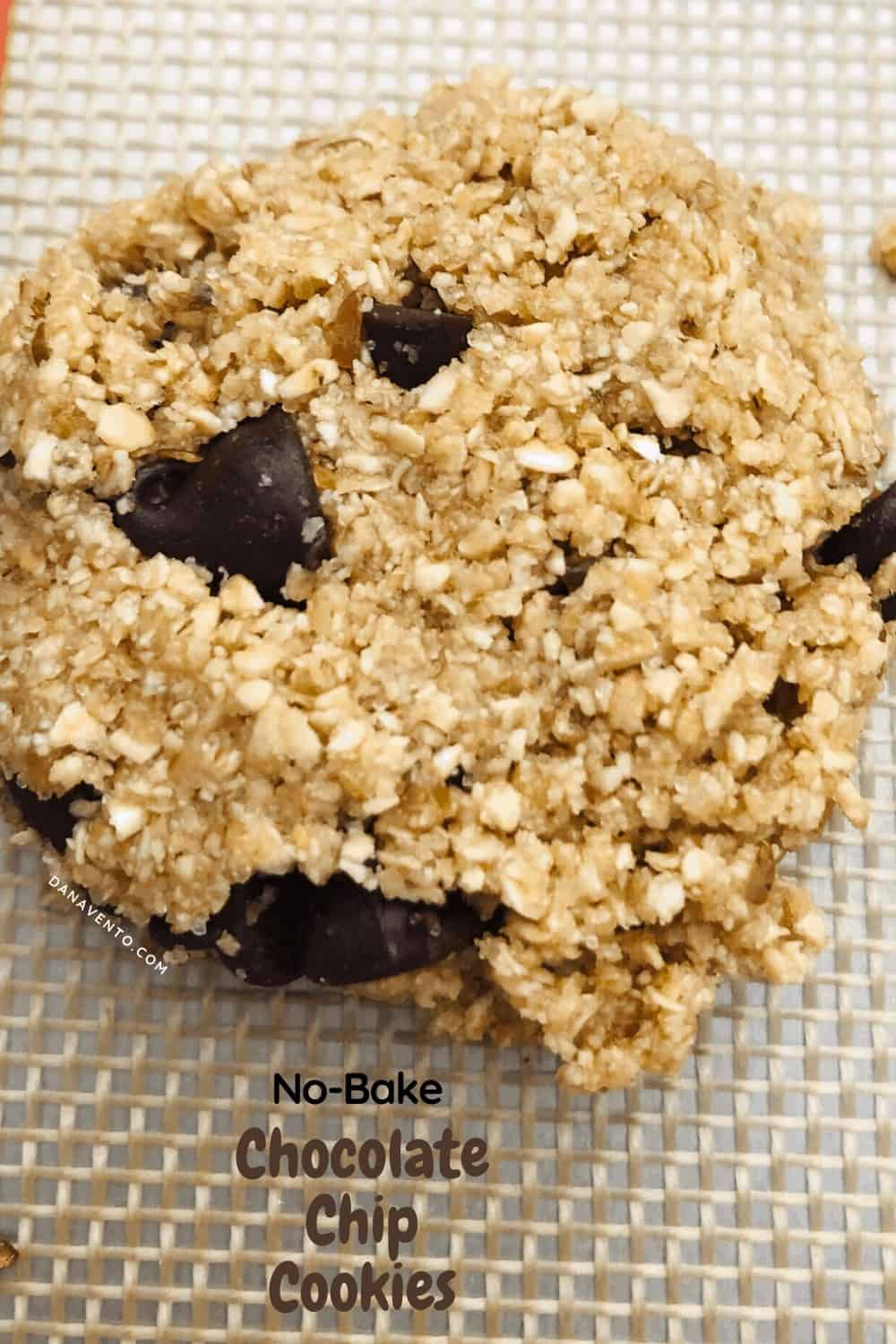 1 good looking no-bake chocolate chip cookie