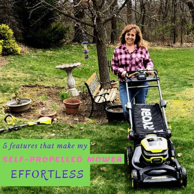Dana behind self-propelled mower by RYOBI