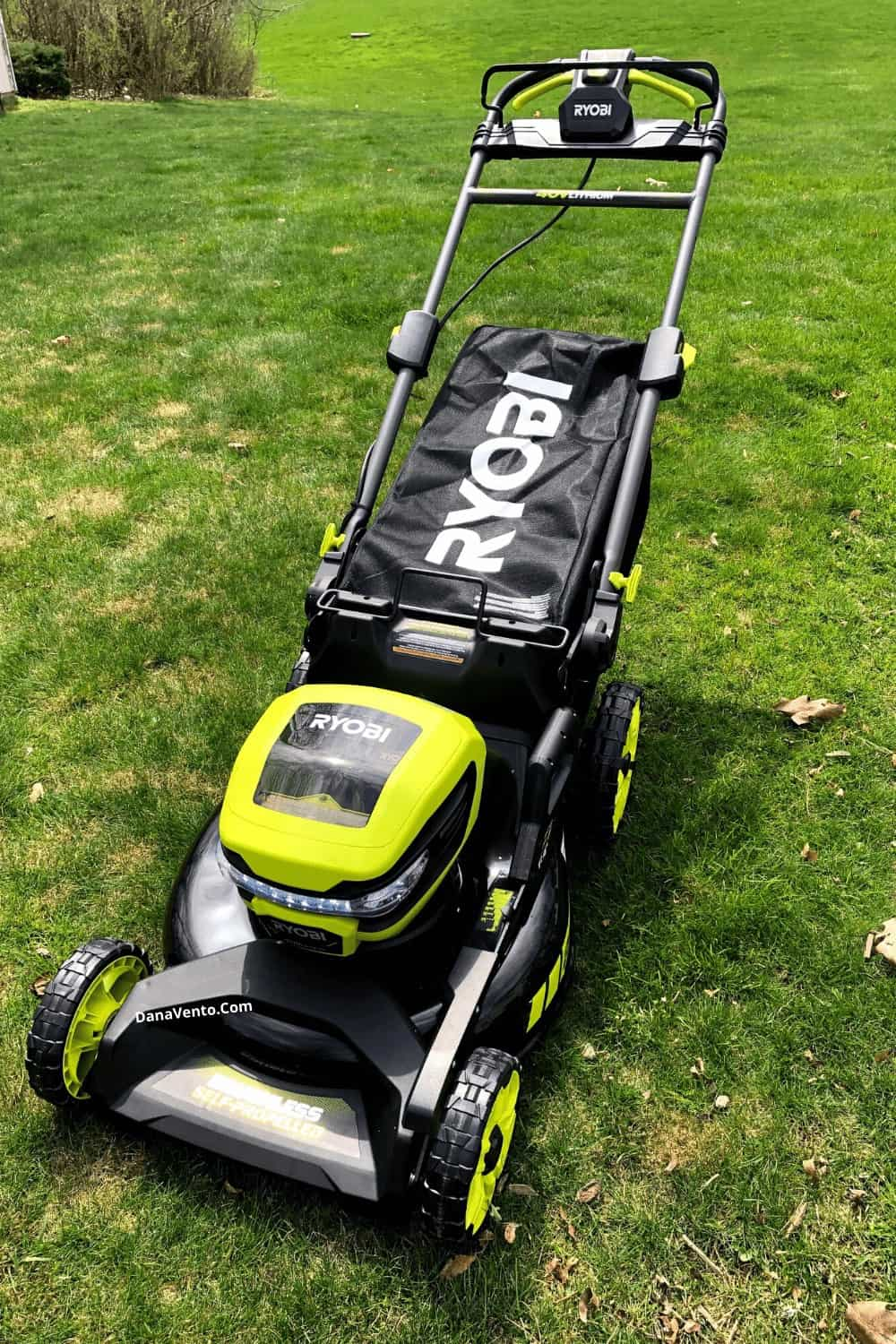 "RYOBI 40v 21"" brushless self-propelled mower"