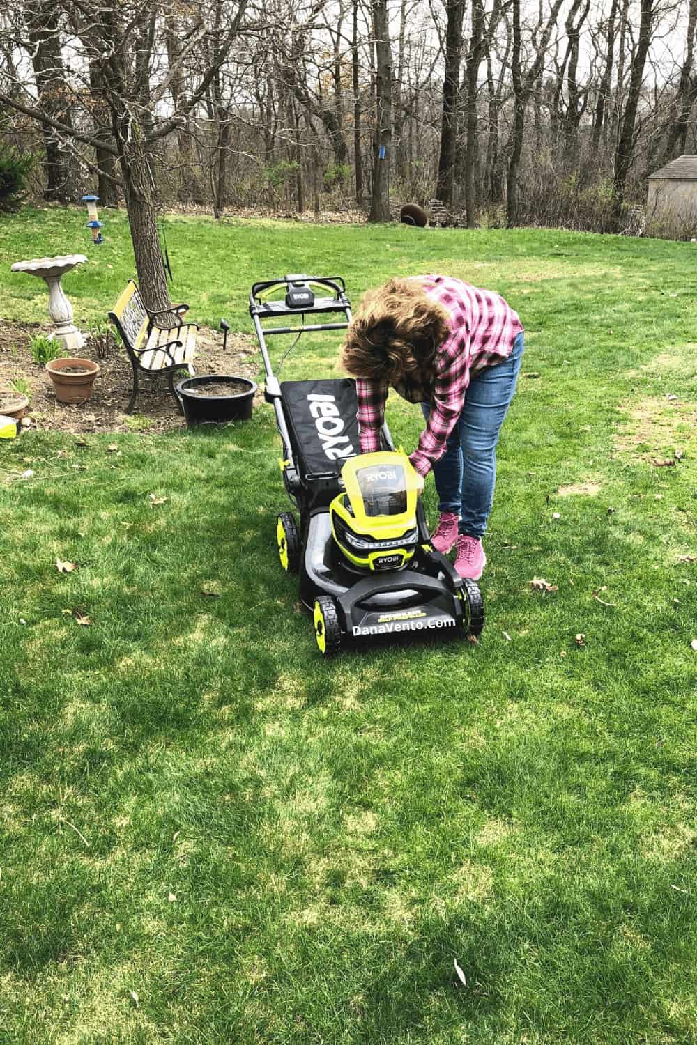 Dana and RYOBI mower battery operated