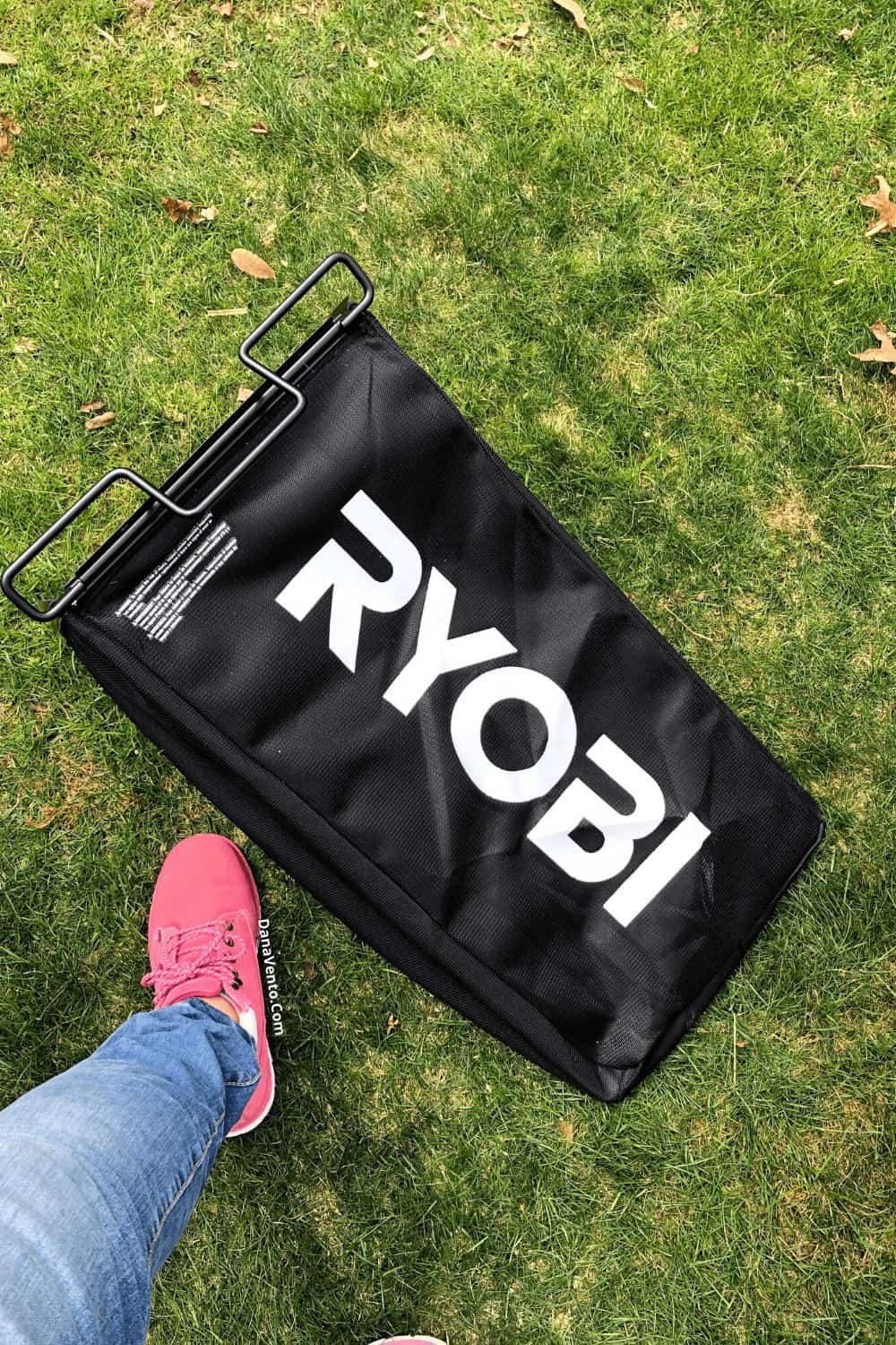 RYOBI lawn catching bag for mulching or not
