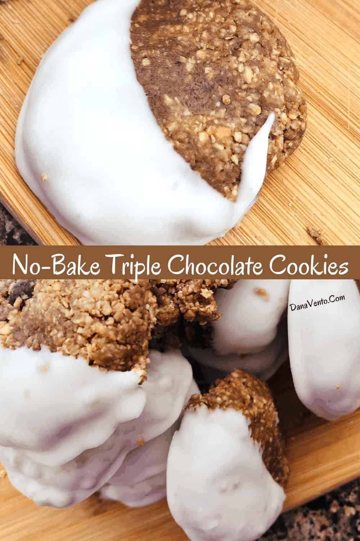 Ultimate No-Bake Triple Chocolate Chip Cookies Football Dessert Recipe