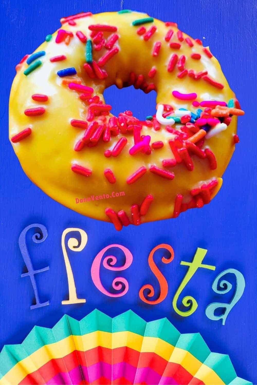 fiesta donut on word FIESTA
