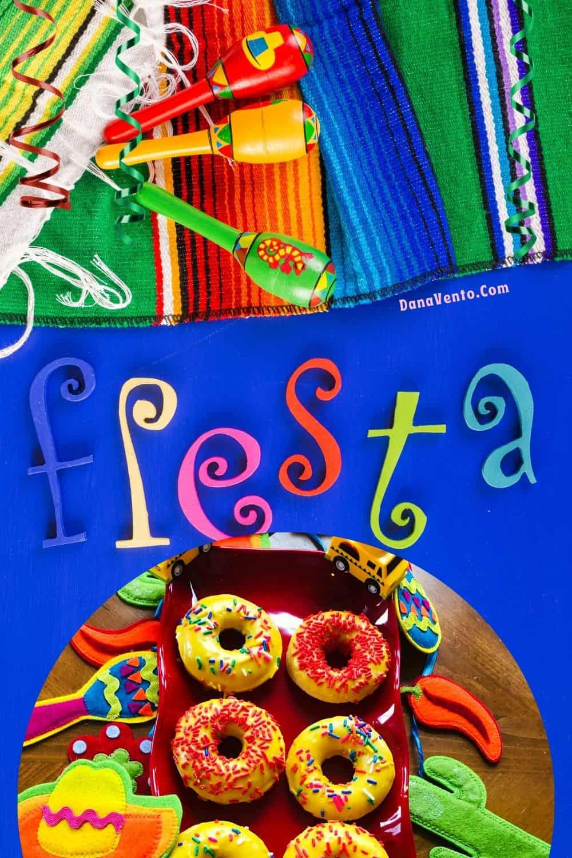 fiesta donuts on Fiesta platter
