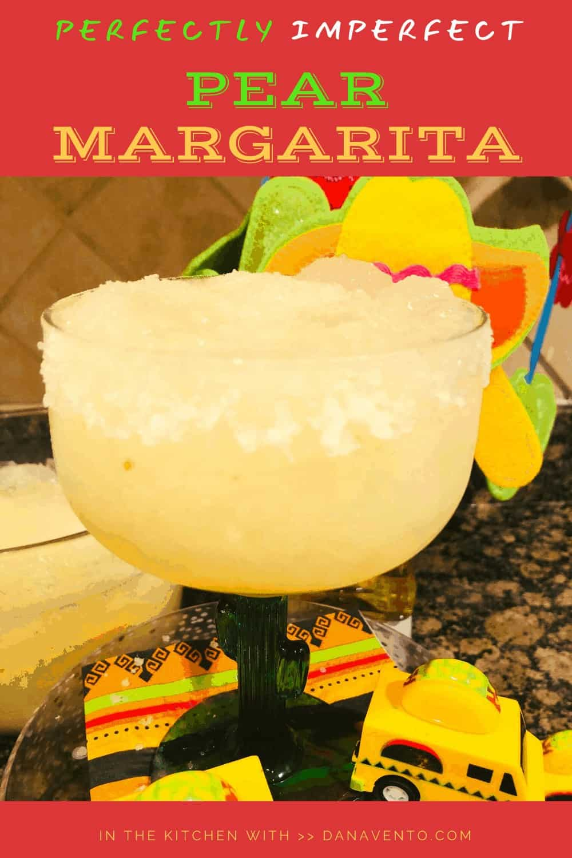 Salted rim on Pear Margarita up close
