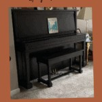 Piano after being painted