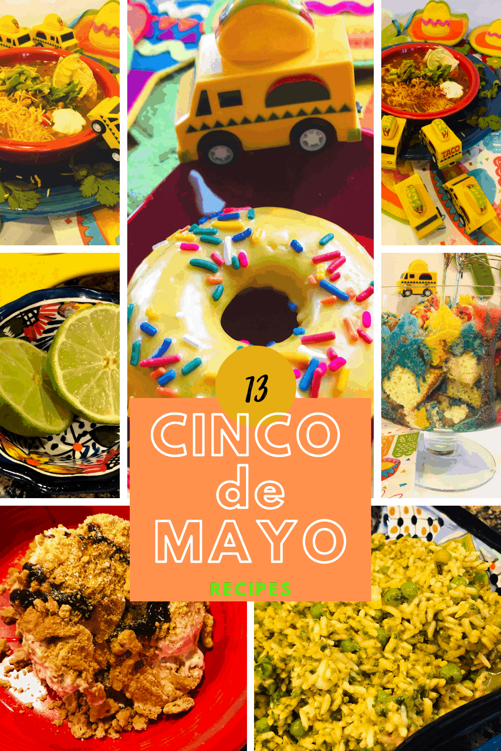 Cinco de mayo party foods including lime wedges
