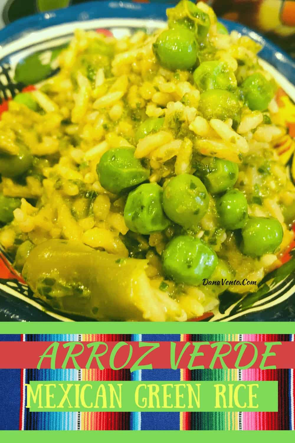 Mexican Green Rice (arroz verde) in bowl