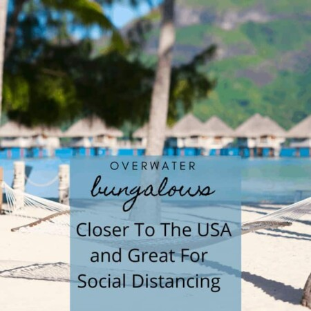 overwater bungalows in background