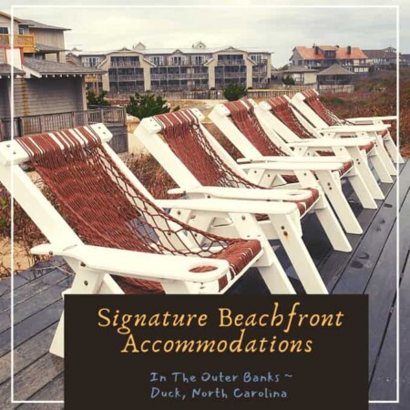 Back seating beachside at Sanderling Resort