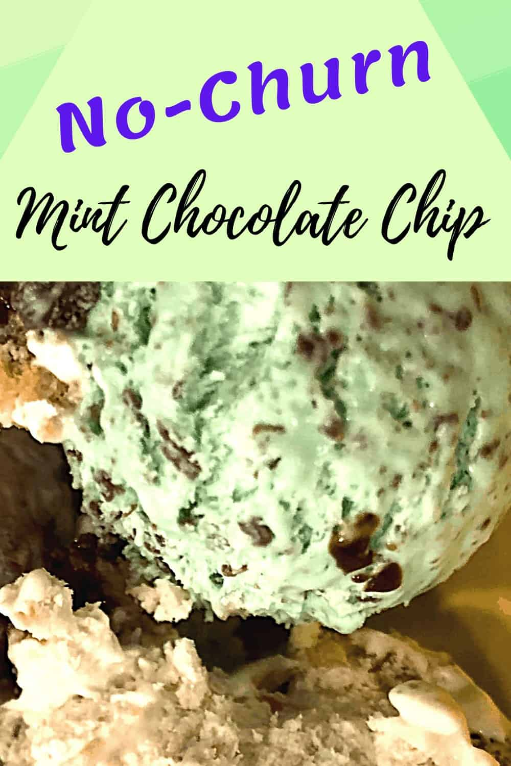 Mint Chocolate Chip Ice Cream with other flavors of ice cream in bowl