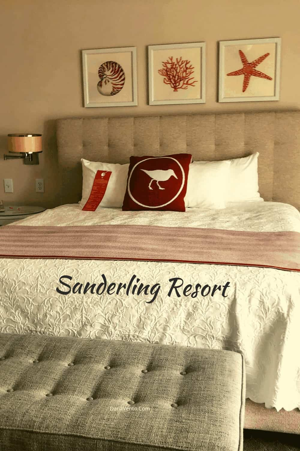 bed at Sanderling Resort