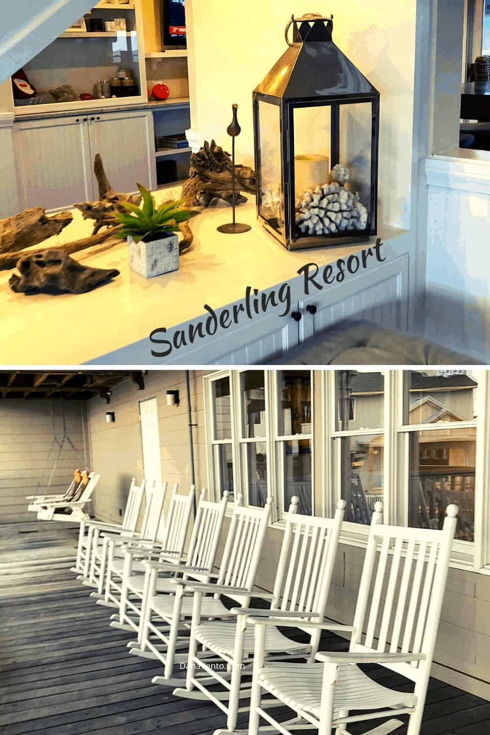 Inside Sanderling resort reception