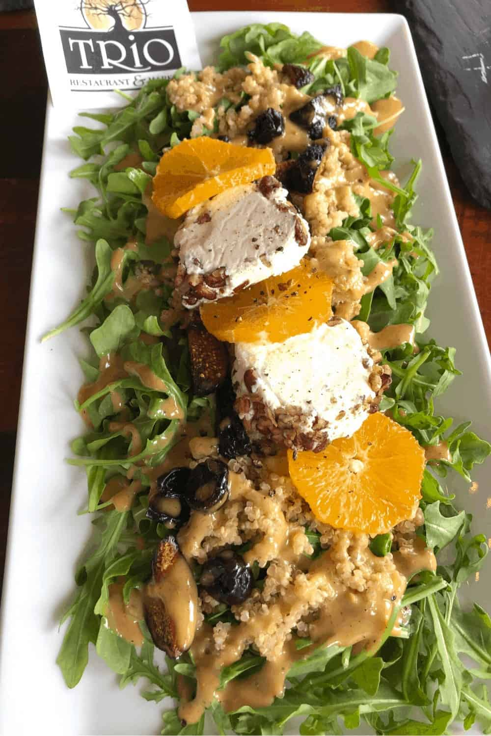 Goat Cheese on Salad at Trio Outer Banks