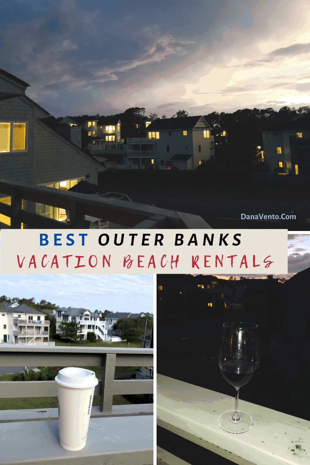 Brindley Beach vacations and rentals from top deck seeing wine and coffee in Corolla