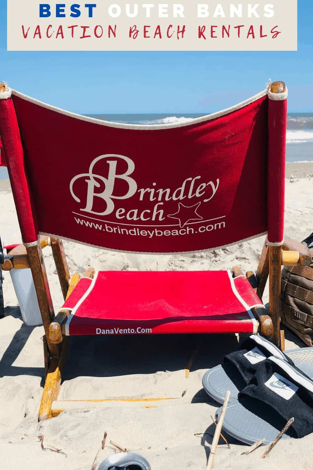 Brindley Beach Vacations Chair on Beach in the sand