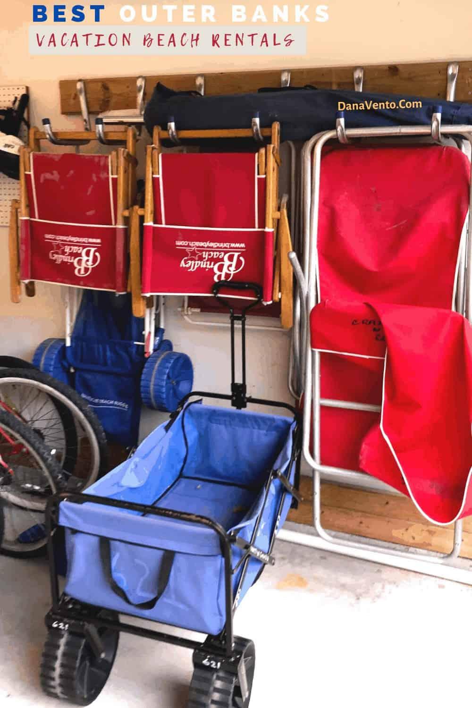BRINDLEY beach chairs in our garage beach rental