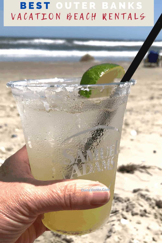 Margarita from Beach service bar at Brindley Beach Vacations Corolla Light Community