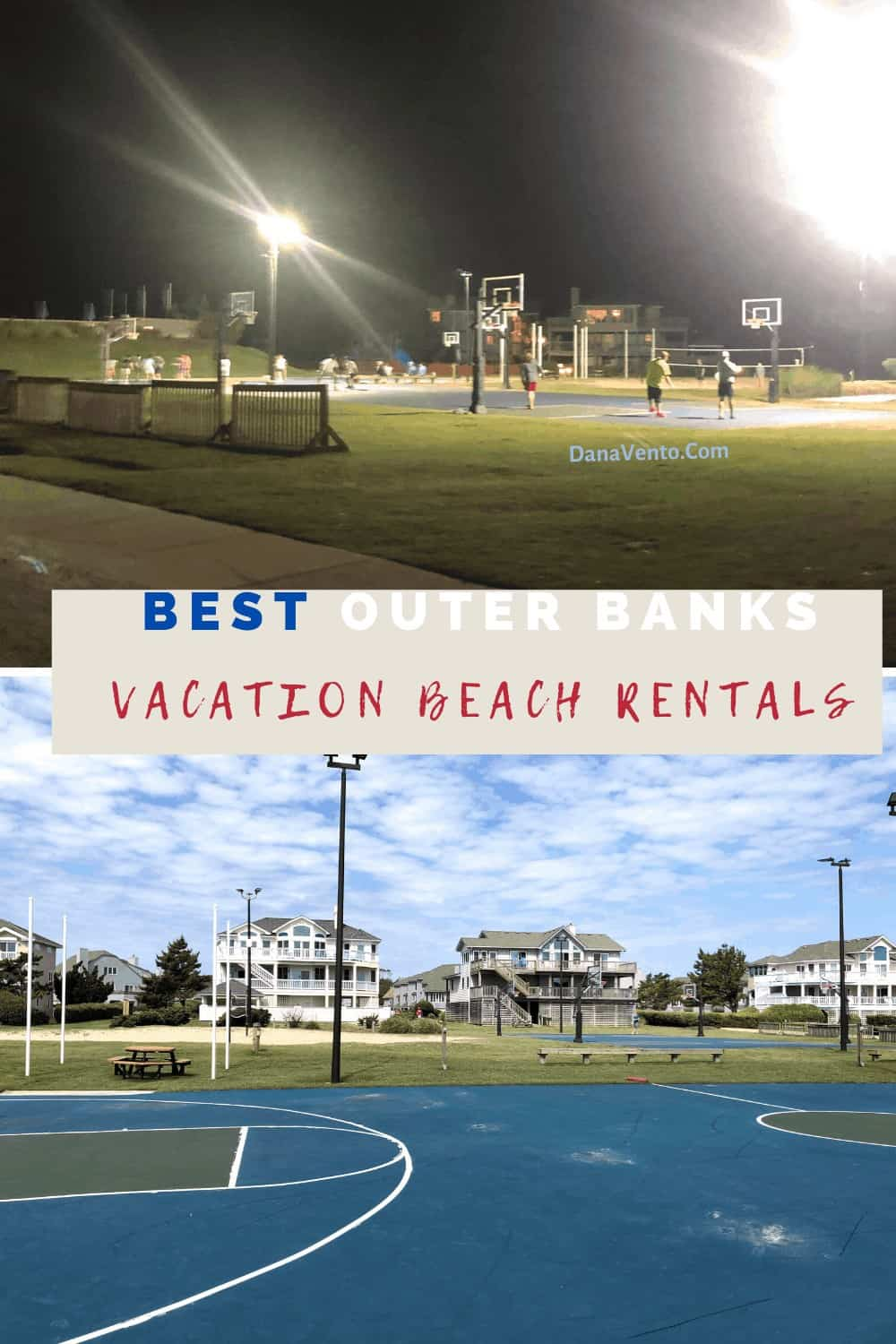 basketballs courts and volleyball courts at Brindley beach vacations in Corolla Light