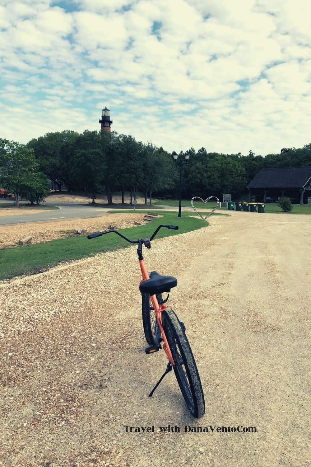 Discovering Corolla NC by currituck lighthouse ahead