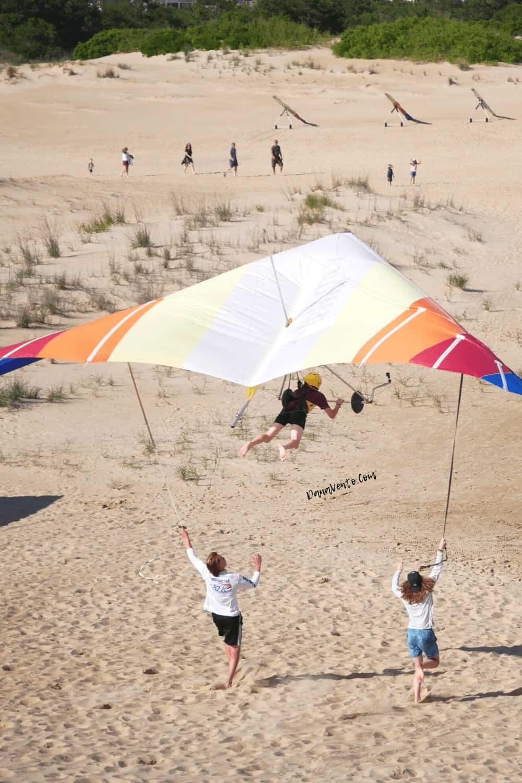 Flying in Hang Glider in Jocky Ridge State Park