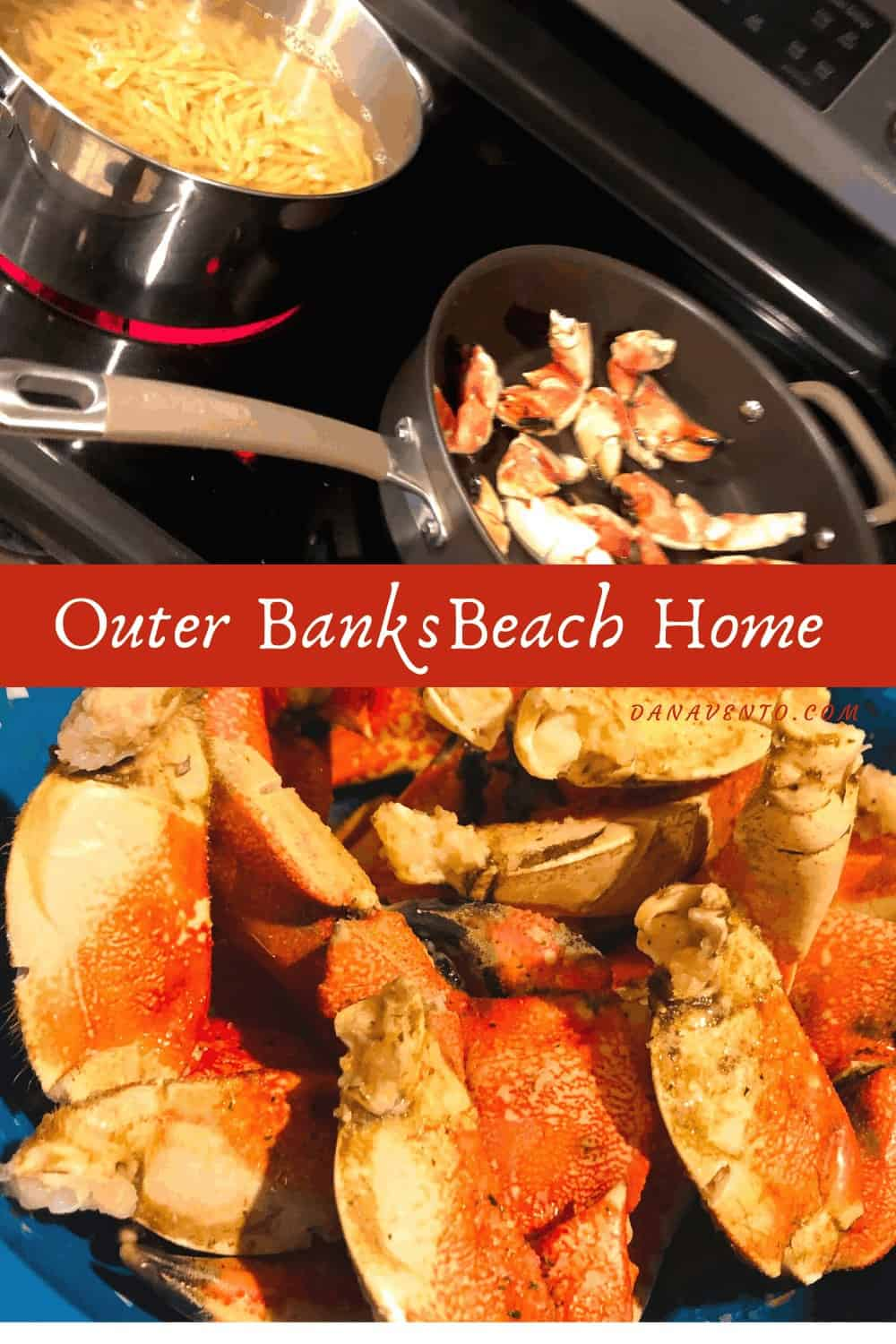 Crab on stove in Outer Banks Beach Home