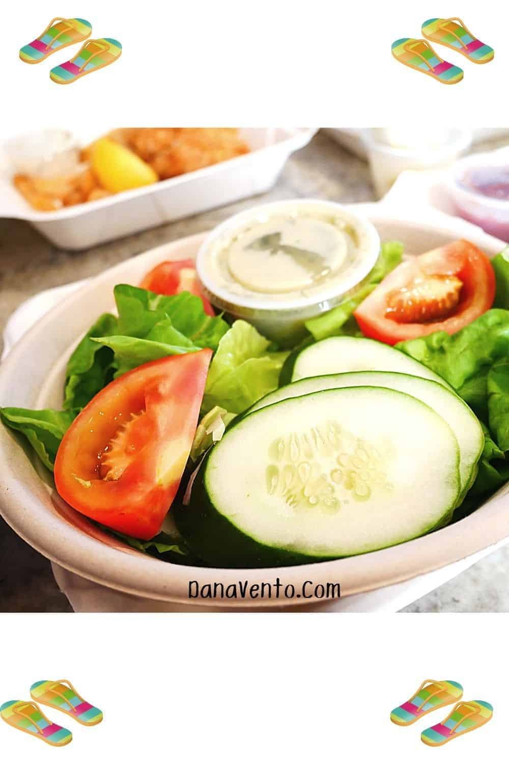 Take Out Side Salad Southern Shores Seafood Restaurant