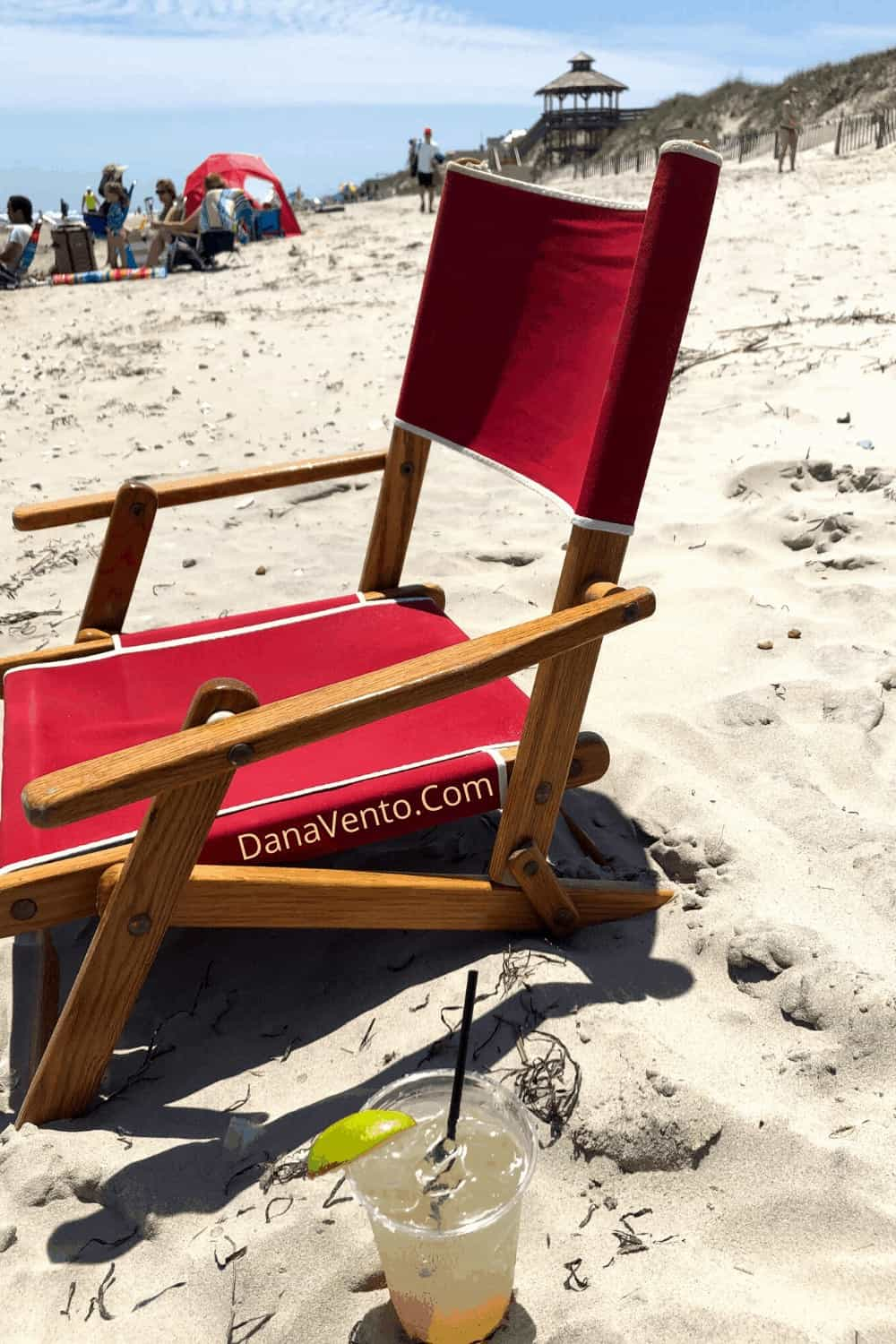 chair in sand Outer Banks Brindley Beach Corolla NC
