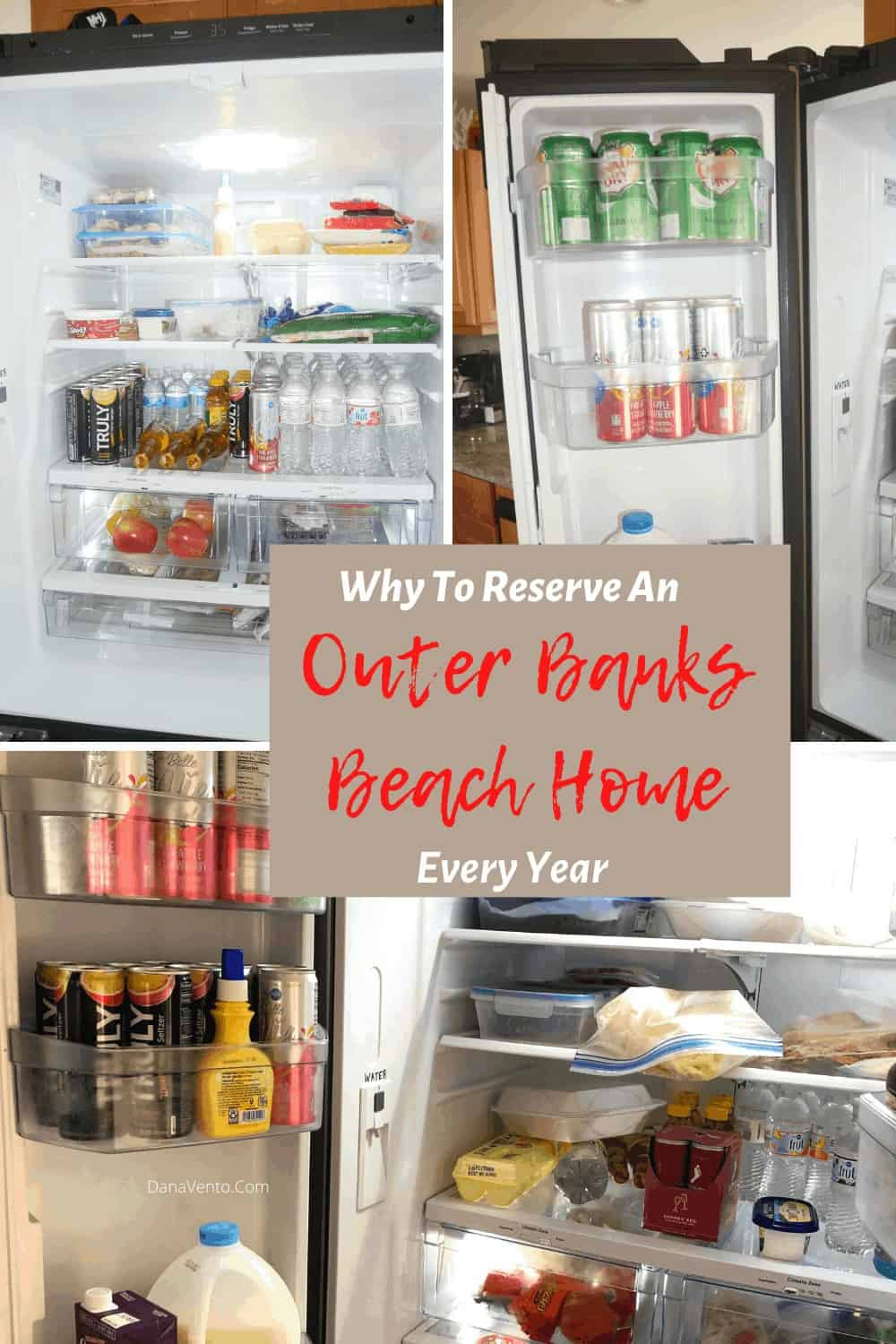 stocked refrigerator in Outer Banks Beach Home
