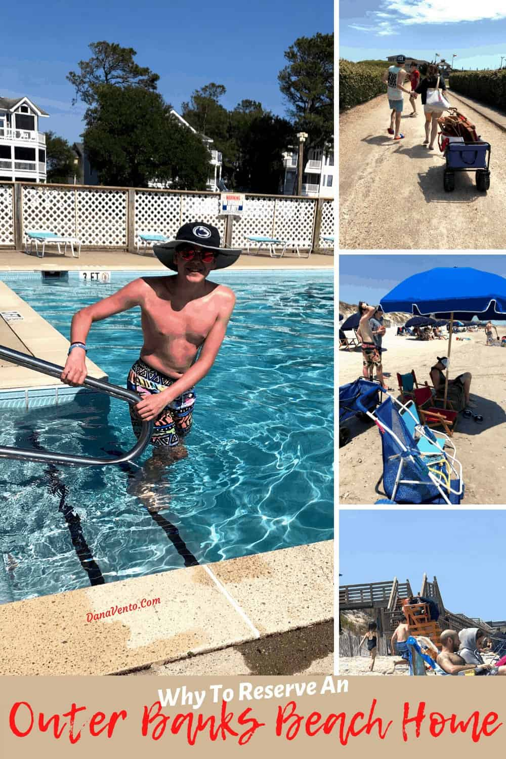 Pool Time at our Outer Banks Beach Home Community Pool